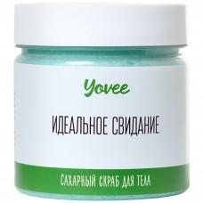 Скраб для тела Yovee by Toyfa «Освежающий» с ароматом зелёного чая и мяты 200 гр