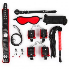 Набор БДСМ Notabu Domination & Submission цвет красный/чёрный