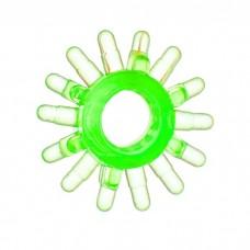 Эрекционное кольцо TOYFA с шипами зеленое