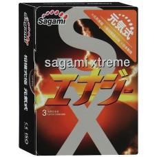 Презервативы SAGAMI Energy ультратонкие со вкусом энергетического напитка 3шт