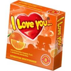 """Презервативы с ароматом апельсина """"I Love You"""", 3 шт"""