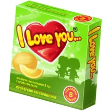 "Презервативы с ароматом дыни ""I Love You"", 3 шт"